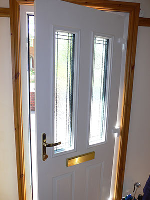 Composite door interior view