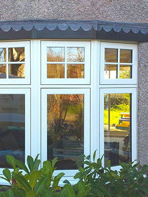 White Flush Casement Windows