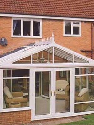 White Gable Roof Conservatories