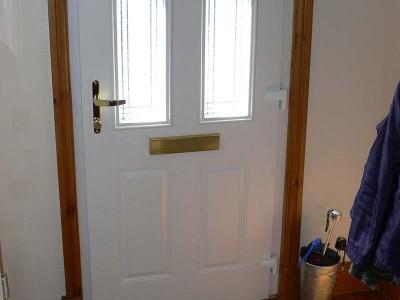 Composite Door White Oak