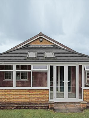 Lean-to Conservatory with Tiled Roof