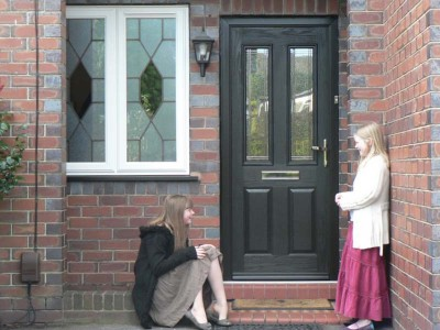 Black Entrance Composite Door