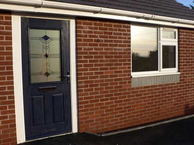 Dark Blue Composite Entrance Door