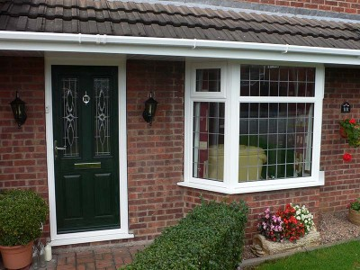 Dark Green Composite Door
