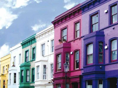 Coloured casement windows