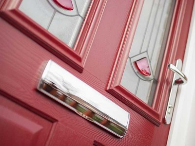 Red Composite Solidor Door