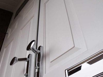 White Solidor Composite door