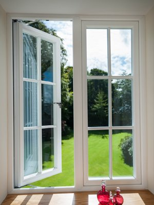 Some open casement windows